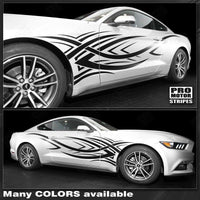 Ford Mustang 2015-2017 Tribal Accent Side Stripes Auto Decals - Pro Motor Stripes