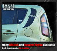 Kia SOUL 2008-2013 Top Rear Quarter Side Accent Stripes Decal Auto Decals - Pro Motor Stripes