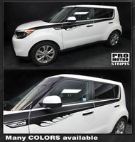 Kia SOUL 2008-2019 Flame Accent Side Sport Stripes