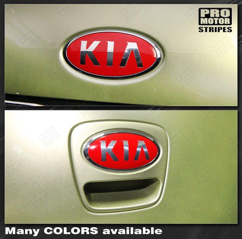 Kia SOUL 2008-2016 Front & Rear Emblem Accent Overlay Decals Auto Decals - Pro Motor Stripes