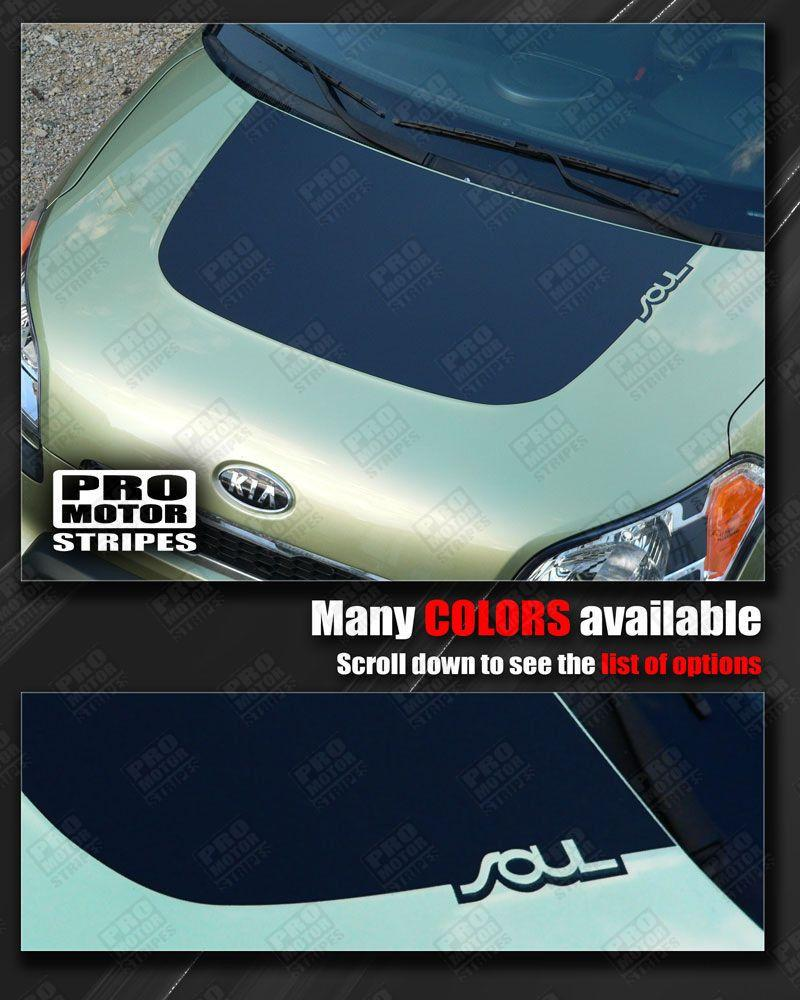 2008 2009 2010 2011 2012 2013 2014 2015 2016 2017 2018 Kia Soul hood Decals Stripes 122551589899-1