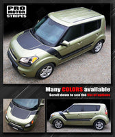 Kia SOUL 2008-2016 Hood and Side Accent Sport Stripes Auto Decals - Pro Motor Stripes