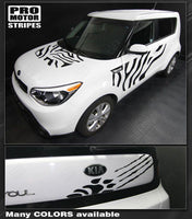 Kia SOUL 2008-2018 Hood, Sides & Rear Wild Cat Stripes
