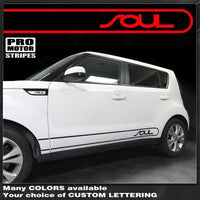 Kia SOUL 2008-2016 Rocker Panel Side Sport Stripes Auto Decals - Pro Motor Stripes