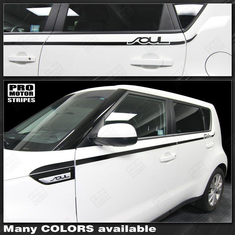 2008 2009 2010 2011 2012 2013 2014 2015 2016 2017 2018 2019 Kia Soul side  door Decals Stripes 122551591313-1