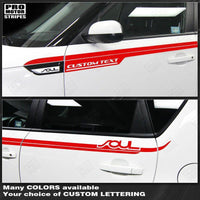 2008 2009 2010 2011 2012 2013 2014 2015 2016 2017 2018 2019 Kia Soul side  door Decals Stripes 132229430401-1