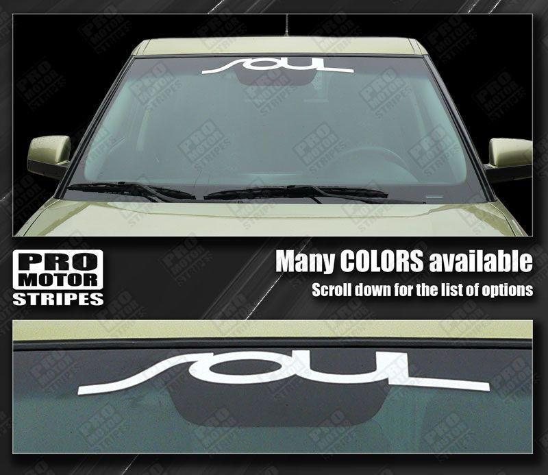 Kia SOUL (All Models) Windshield Banner Graphic Decal Auto Decals - Pro Motor Stripes