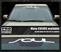 Kia SOUL (All Models) Windshield Banner Graphic Decal