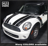 2008 2009 2010 2011 2012 2013 2014 Mini Cooper hood  side  door  rocker panel Decals Stripes 122551585432-2