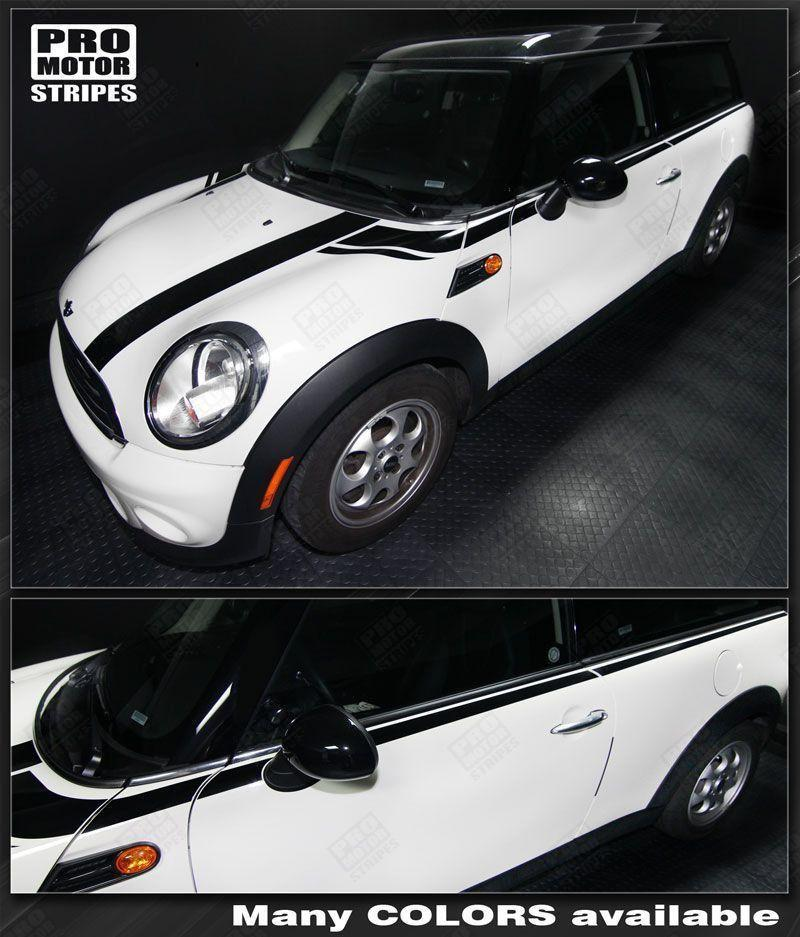 2008 2009 2010 2011 2012 2013 2014 Mini Cooper hood  side  door Decals Stripes 122551589183-1