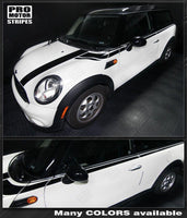 Mini Cooper 2008-2014 Clubman Hood & Upper Side Stripes Auto Decals - Pro Motor Stripes