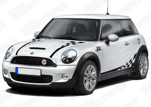 2008 2009 2010 2011 2012 2013 2014 Mini Cooper hood  side  trunk  door  rocker panel Decals Stripes 122551585486-1