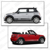 2008 2009 2010 2011 2012 2013 2014 Mini Cooper side  door  rocker panel Decals Stripes 132229430456-2