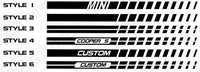 2008 2009 2010 2011 2012 2013 2014 Mini Cooper side  door  rocker panel Decals Stripes 132229430456-3