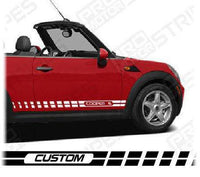 2008 2009 2010 2011 2012 2013 2014 Mini Cooper side  door  rocker panel Decals Stripes 132229430456-1
