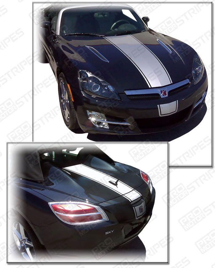 Saturn Sky 2007-2009 Factory Style Center Racing Stripes Auto Decals - Pro Motor Stripes