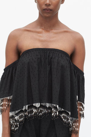 Topanga Off the Shoulder Top | Black