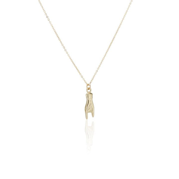 GOLDEN MANO CORNUTO NECKLACE