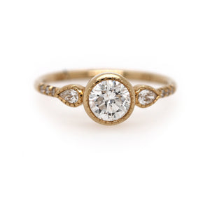 ROUND DIAMOND PEAR EQUILIBRIUM RING