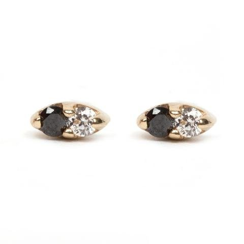 Black and White Seed Studs