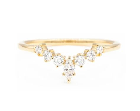 MARISOL CURVED MARQUISE BAND