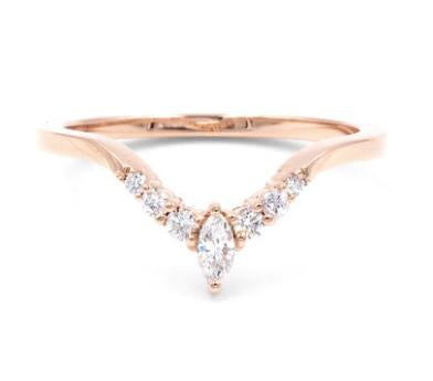 CURVED MARQUISE DIAMOND BAND