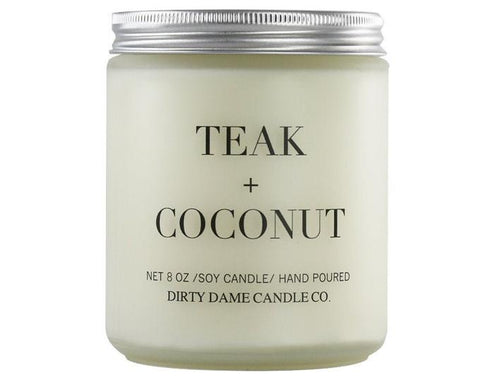 TEAK AND COCONUT CANDLE