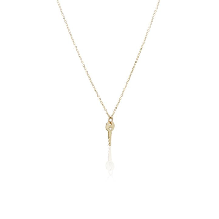LITTLE SKELETON KEY NECKLACE