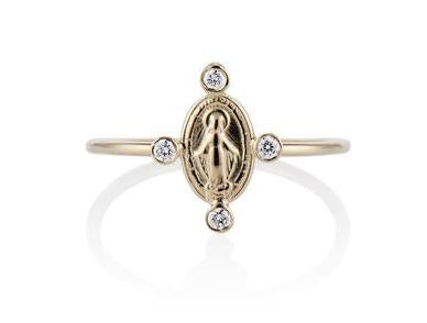 MOTHER MARY DIAMOND RING