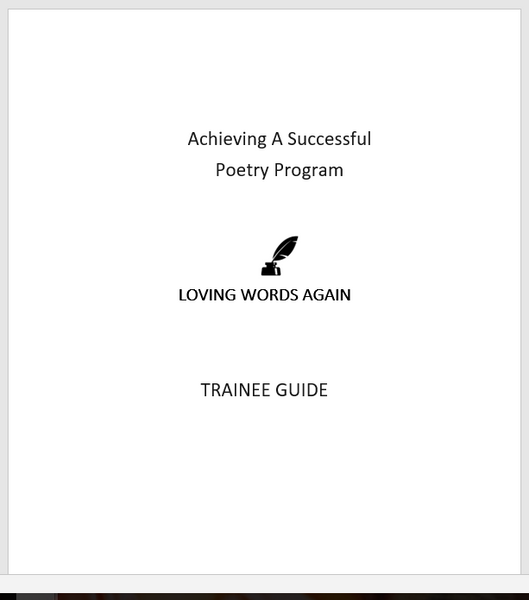 Loving Words Again Complete Training Package- printed version