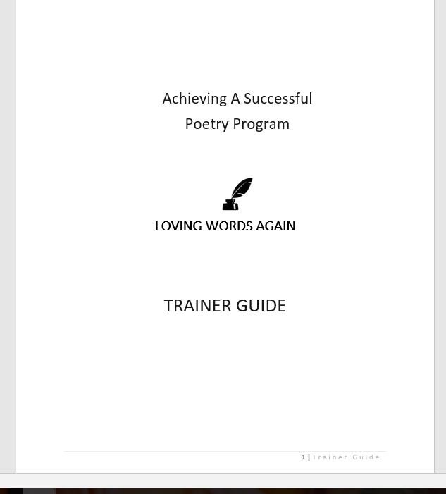 Loving Words Again Trainer Guide