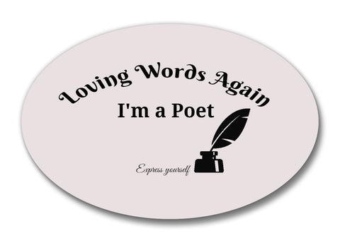 Novelty- Loving Words Again Poetry Pin