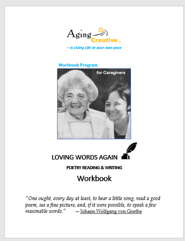 Loving Words Again Poetry  WORKBOOK
