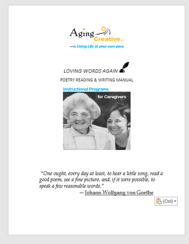 Loving Words Again Poetry Training Manual- printed version