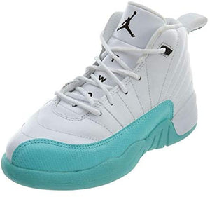 Kids Aqua Jordan 12 Retro Basketball Shoes