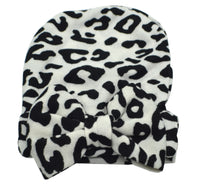 Baby Leopard Print Bow Hat