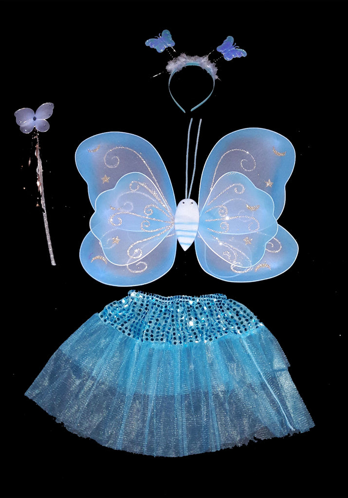 4pc Butterfly Wing Tutu Set