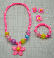 4pc Flower Pearl Necklace Set