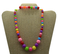 2pc Candy Ball Necklace Set