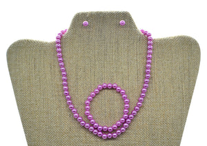 3pc Princess Pearl Necklace Set
