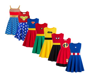 Girls Superhero Costume Dress