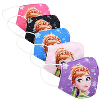 Kids 5pk Elsa & Anna Washable Facemask