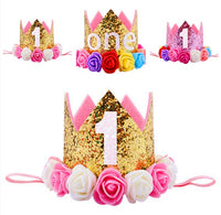 Baby Girl 1st Birthday Princess Crown Headband