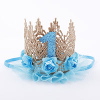 Baby 1st Birthday Tiara Crown Headband