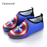 Kids Quick Dry Slip-Proof Cartoon Print Water Shoes
