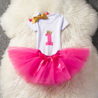 Baby 1st Birthday Tutu Outfits Set