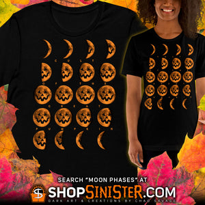 "New Cult of the Great Pumpkin ""Moon Phases"" T-shirt Design"