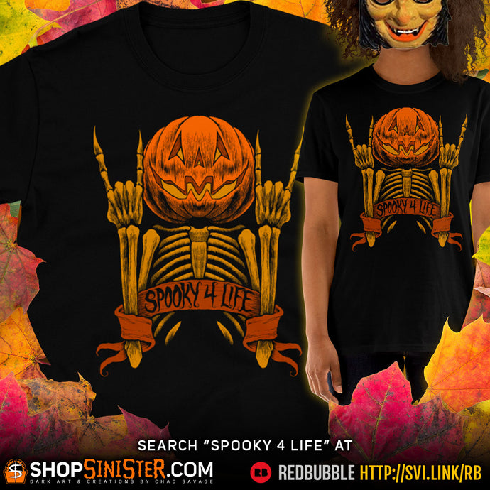 "New ""Spooky 4 Life"" T-shirt Design"