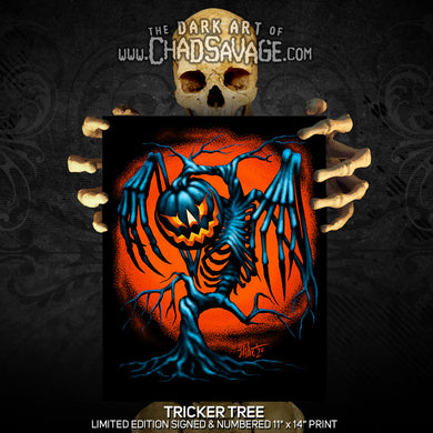 Tricker Tree Art Print