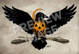 Halloween Eagle Art Print